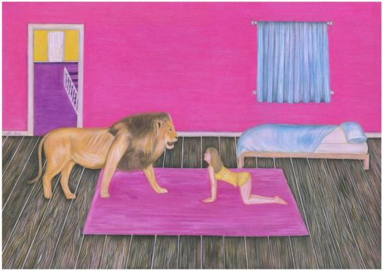 HazelGore_The Lion's Mane_pastel pencils on paper_59.5cm x 47cm